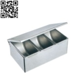 不锈钢三格调味盒厨具用品正迪