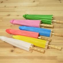 幼儿园儿童diy空白纸伞 手工绘画伞 白色油纸伞 手绘玩具工艺伞图片