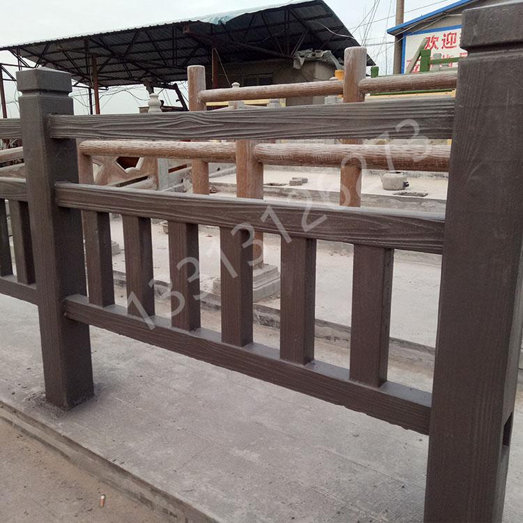 河道水泥仿木栏杆安装及报价