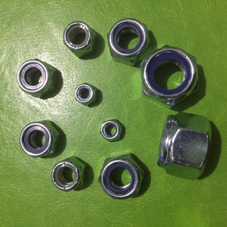 尼龙螺母DIN985 尼龙螺母DIN985镀锌M8