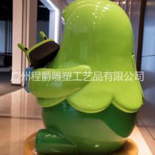 厂家批量定做玻璃钢绿宠卡通VR雕塑儿童乐园游乐场卡通VR眼镜装饰雕塑批发