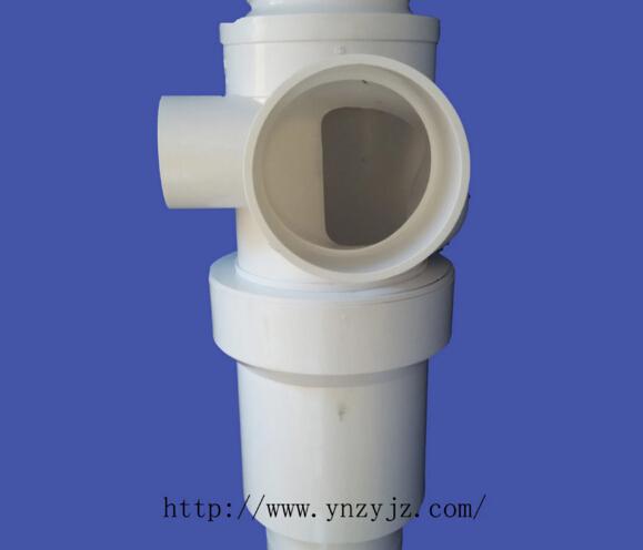 厂家直销正亚UPVC伸缩节同层旋流三通PVC特殊单立管排水管件