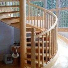 成都定制室内别墅复式实木木楼梯 厂家直销橡木居家欧式整体实木楼梯批发