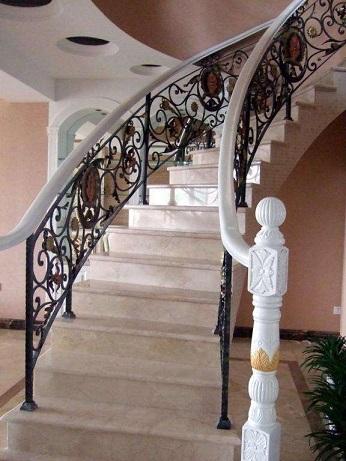 家居别墅高端私人定制铁艺楼梯 欧式古典楼梯 按需定制实木楼梯