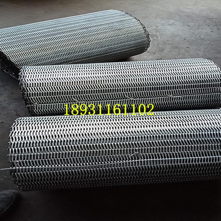 河北金属网带生产厂家 节能菱形网带 钢丝网输送网带