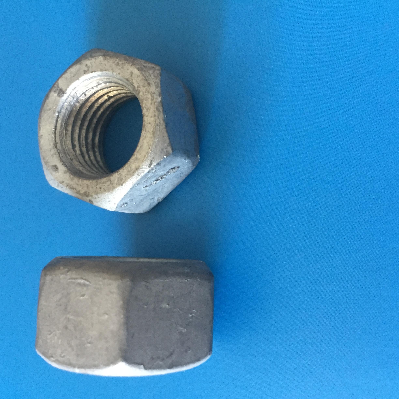 螺母8级10级 螺母六角螺母热镀锌8级 8-24 供应热镀锌六角螺母