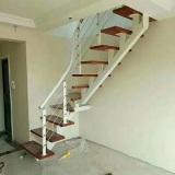 新定制楼梯踏板扶手立柱拉丝楼梯设计安装效果价格驻马店钢梁扶手楼梯厂家