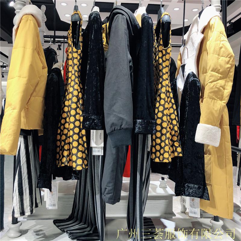杭州一线品牌迪笛欧18冬女装折扣走份批发货源