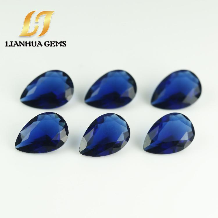 梧州厂价直销批发合成玻璃宝蓝梨形生产厂家直销玻璃价格梧州厂价合成玻璃宝蓝梨形各种颜色组合玻璃