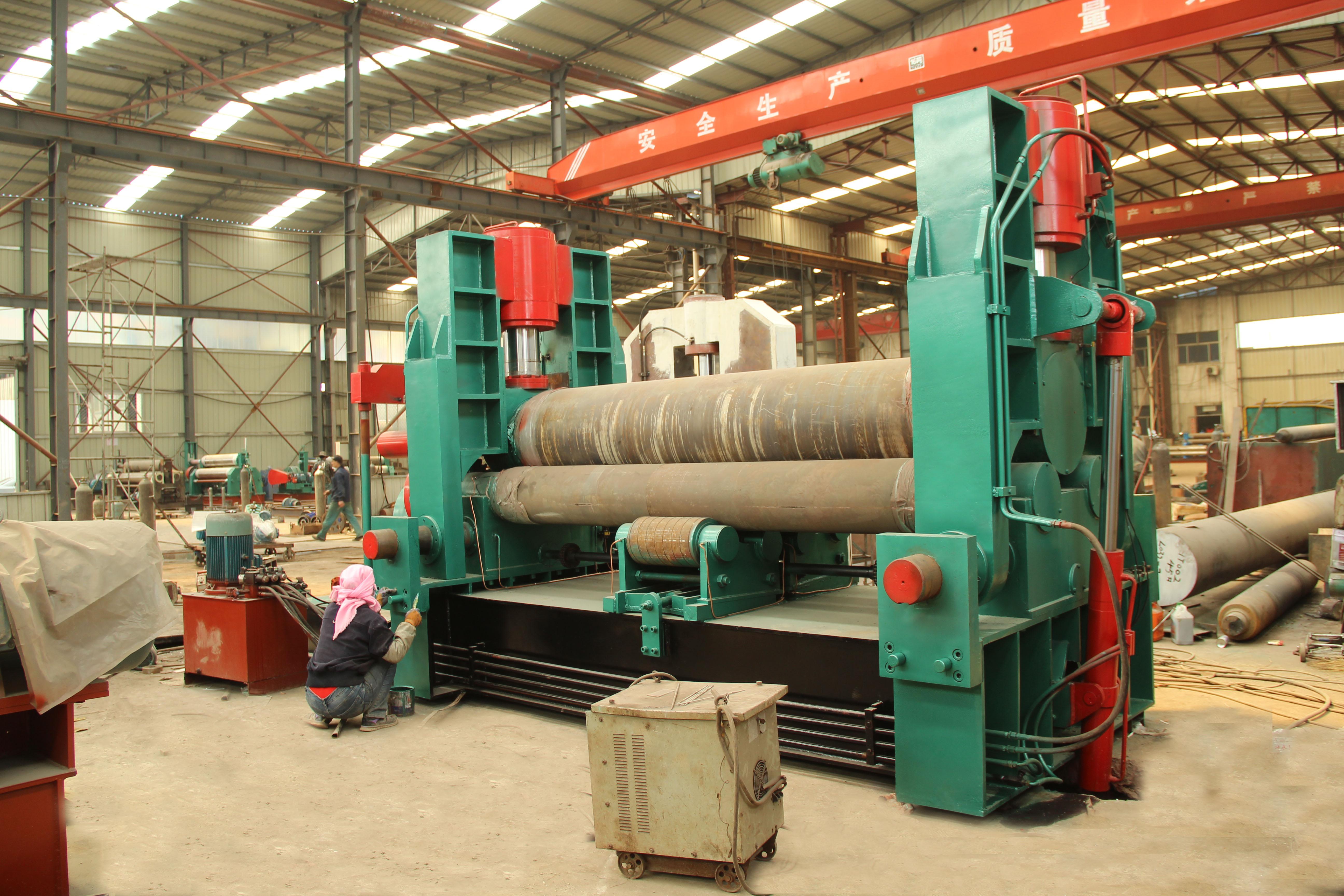 卷板机厚钢板卷圆机压力容器筒体成 卷板机压力容器筒体卷圆成型机
