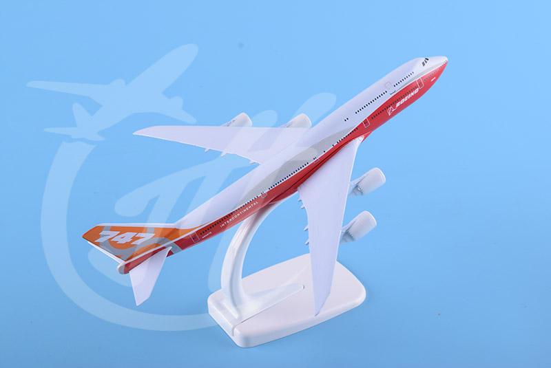 飞机模型B747-8原型机20cm
