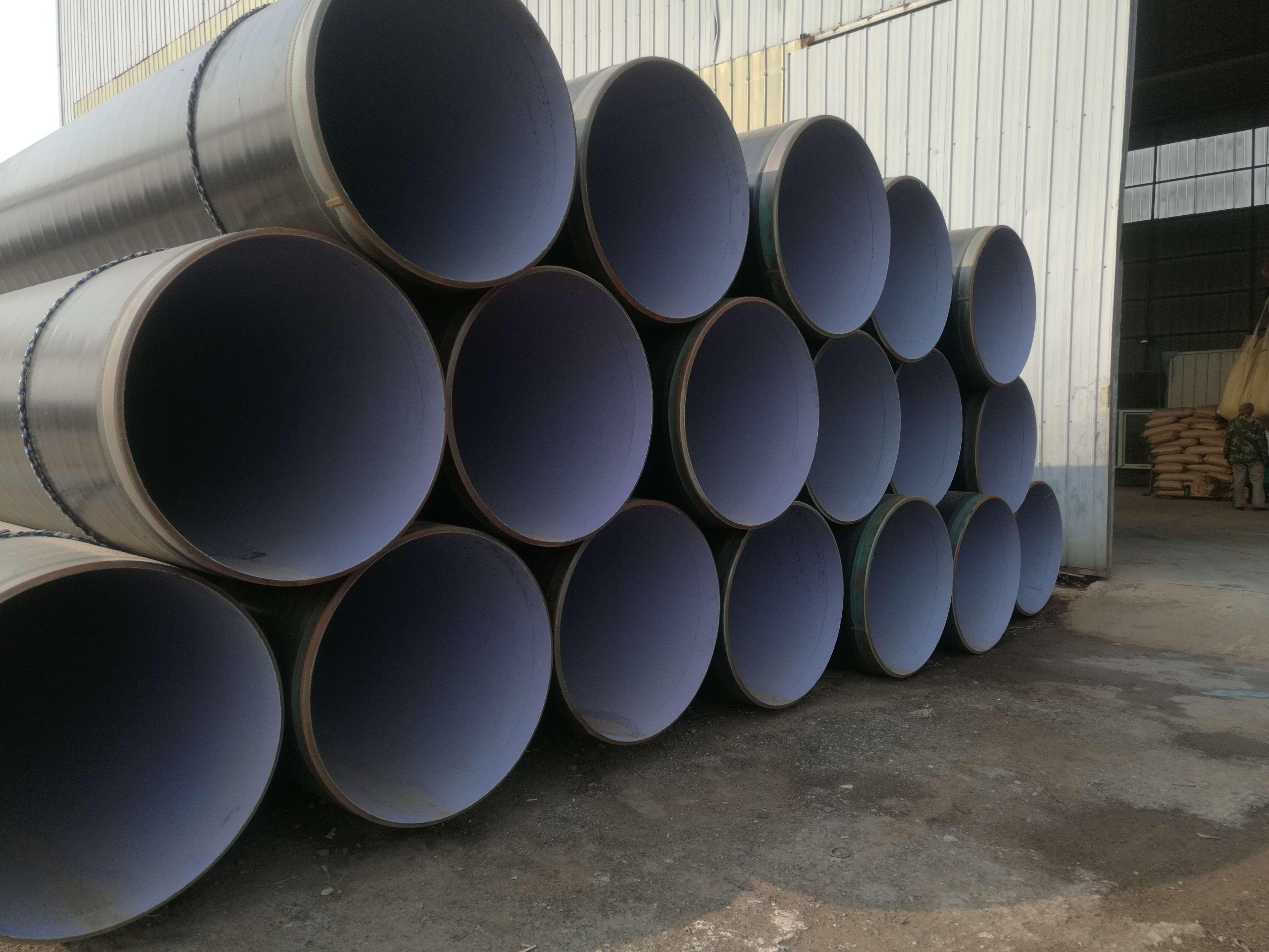 大口径3PE防腐钢管//大口径聚氨酯发泡螺旋钢管//外环氧煤沥青内水泥砂浆防腐钢管// 大口径3PE防腐钢管