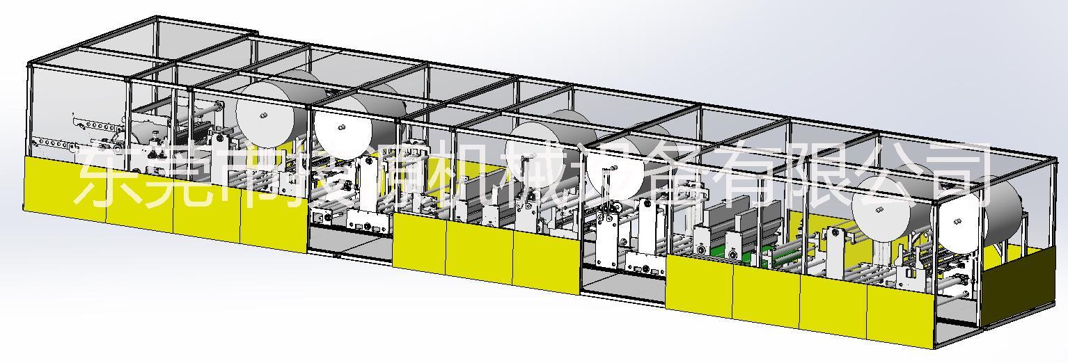 纸尿裤芯体复合机怎么样芯体复合机折叠机介绍 技源机械纸尿裤芯体复合机设备