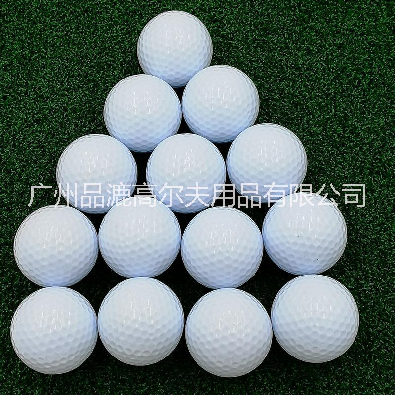 蓝白色高尔夫礼品球 双层橡胶实心392凹洞 小白球 促销纪念球 可定制logo 蓝白色高尔夫礼品球