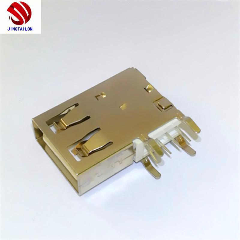 USB插座侧插长体 USB2.0无边母座 USB AF90度侧插