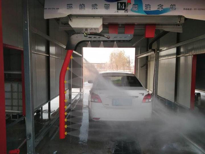 上海有爱旋七环绕型全自动洗车机 7字形臂360度环绕自动洗车机价格