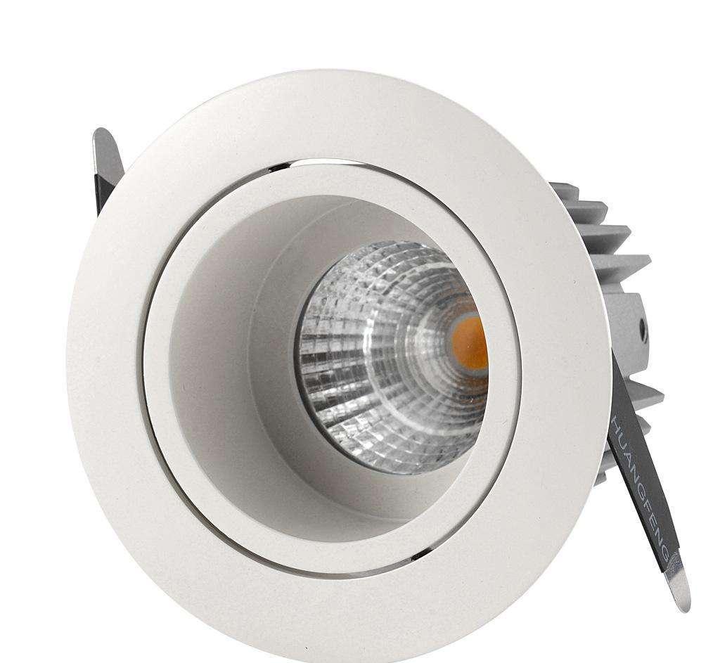 贵州酒店照明COB压铸筒灯 led天花灯嵌入式筒灯报价