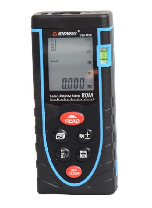 厂家直销深达威测距仪 SW-M80 实用型手持激光测距仪 现货 价格优惠