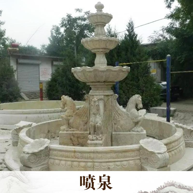 厂家直销  喷泉 动物石雕 大理石石像 石雕工艺品 品质保证 售后无忧