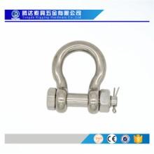 工厂生产304不锈钢弓型保险卸扣 带螺母卸扣 D型保险卸扣 可来样订制批发