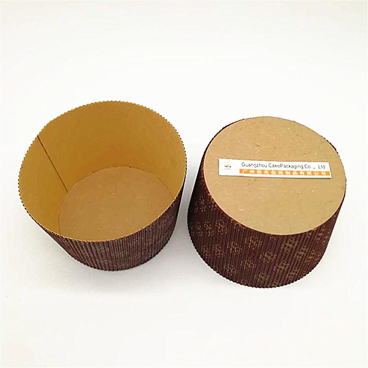 6寸戚风蛋糕模具 纸模 瓦楞圆形耐烤纸杯 潘娜托尼纸托中空蛋糕模 瓦楞蛋糕盒
