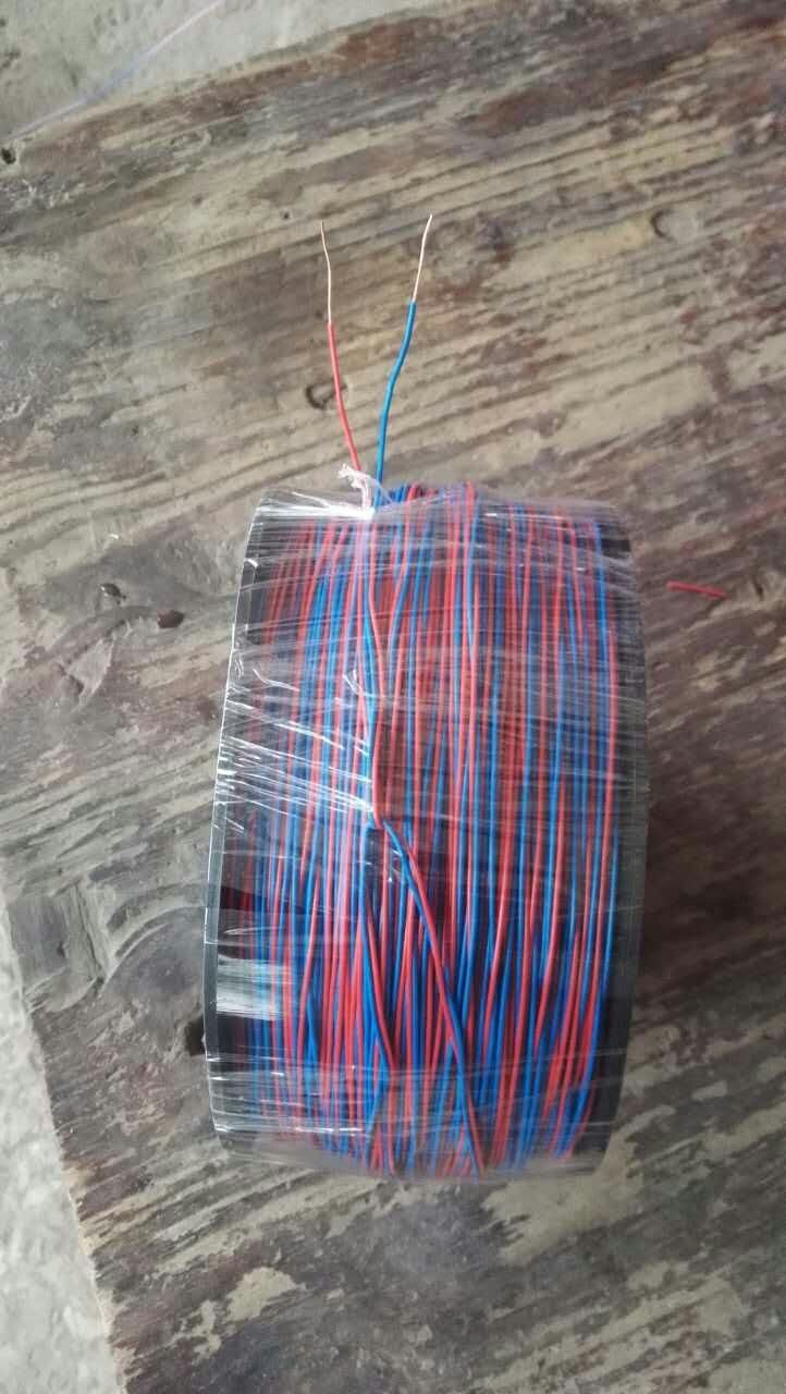 电子双股铜芯线.0.60-0.62双股铜芯线连接脚线15873-190093 电子专用双股铜芯线连接脚线