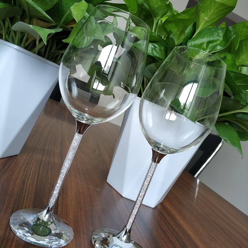 河北华安创意欧式水晶红酒杯无铅高硼硅高脚杯可定制