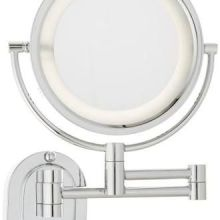 卫生间化妆镜子壁挂伸缩镜子浴室放大镜双面梳妆镜折叠美容镜