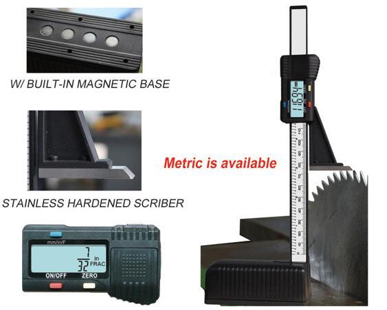 迪吉特量具 数显高度尺木工高度尺高度计高度规 底部带磁 0-150mm塑料