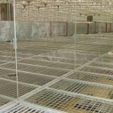 厂家专做吊顶不锈钢格栅板 通风管道格栅板 平台插接钢格板