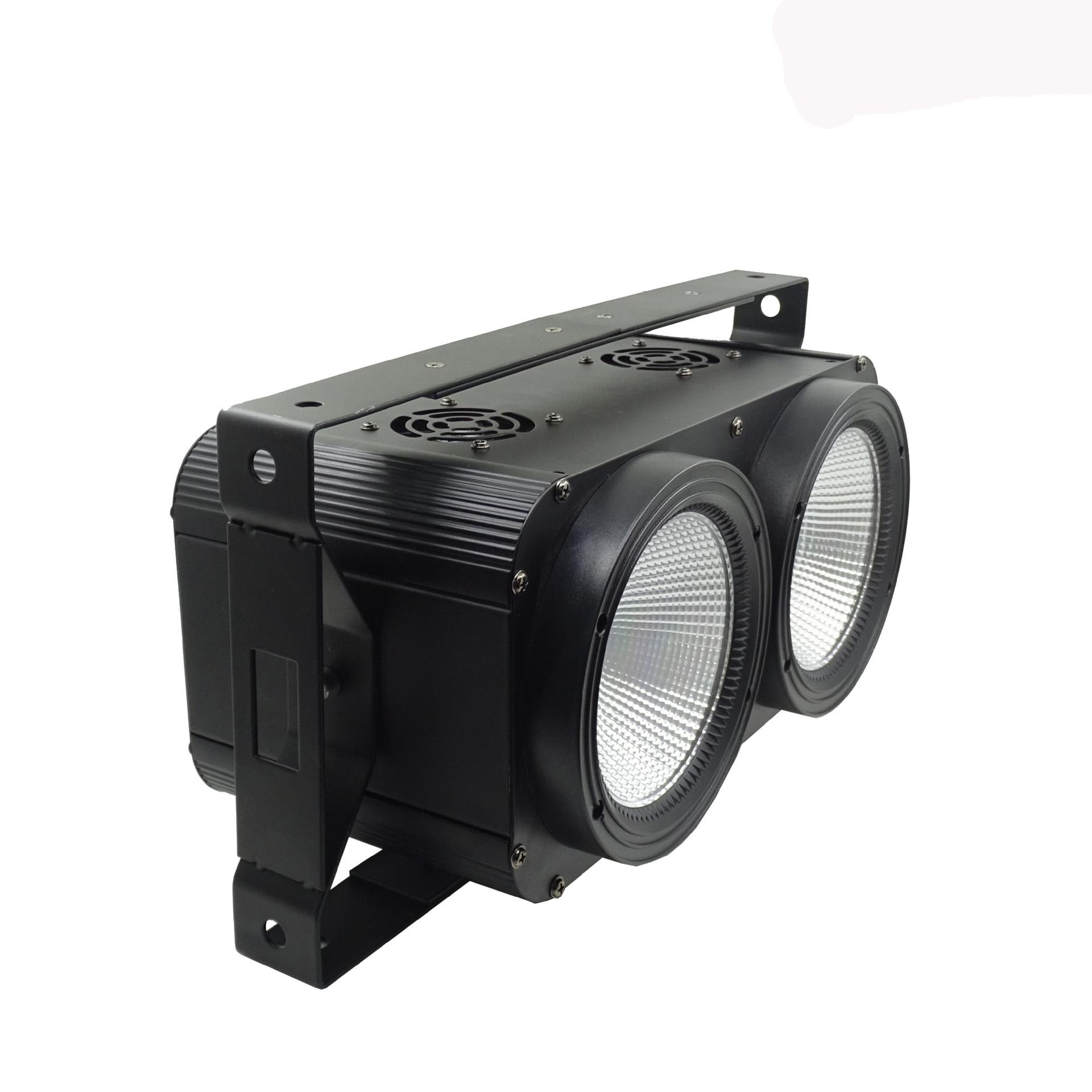 热销2眼200W观众灯,COB2合1冷白/暖白,2眼LED观众灯舞台影视面光灯,广州LED观众灯厂家直销