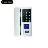 指纹密码办公专用无锁孔玻璃门锁图片