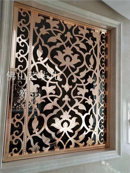 宜春铝板雕刻屏风隔断铝板镂空花格可定制酒店餐厅酒吧雕刻屏风隔断