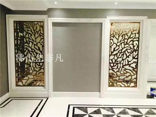 许昌新款铝艺雕刻屏风 室内装饰红古铜隔断订做