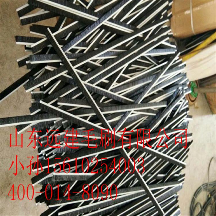 H型F型铝合金条刷 电梯毛刷 工业毛刷 铝合金尼龙毛条密封除尘刷