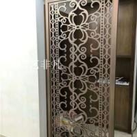 珠海酒店欧式铝艺屏风效果图 高科技铝板立体雕刻艺术屏风