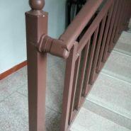 德州镀锌管楼梯扶手,烤漆靠墙扶手图片