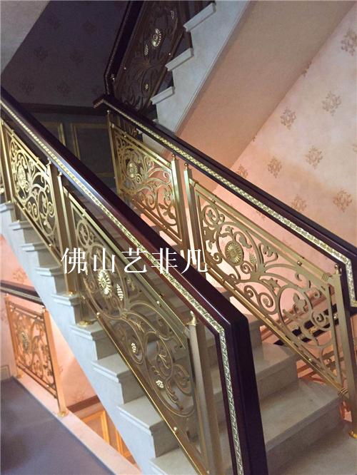 衡水私人订制铝板雕刻护栏 金属楼梯扶手护栏
