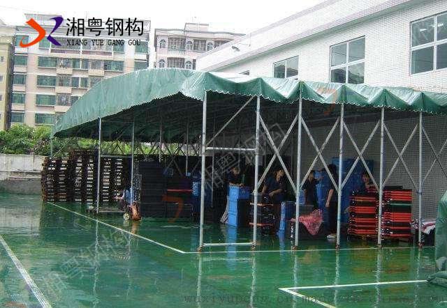 物流工厂仓库推拉篷60mm镀锌钢立柱坚固耐用10年