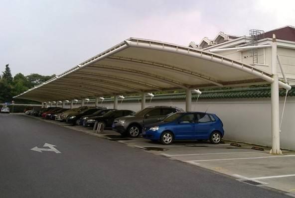 常州停车棚  江苏膜结构停车棚订做可上门服务