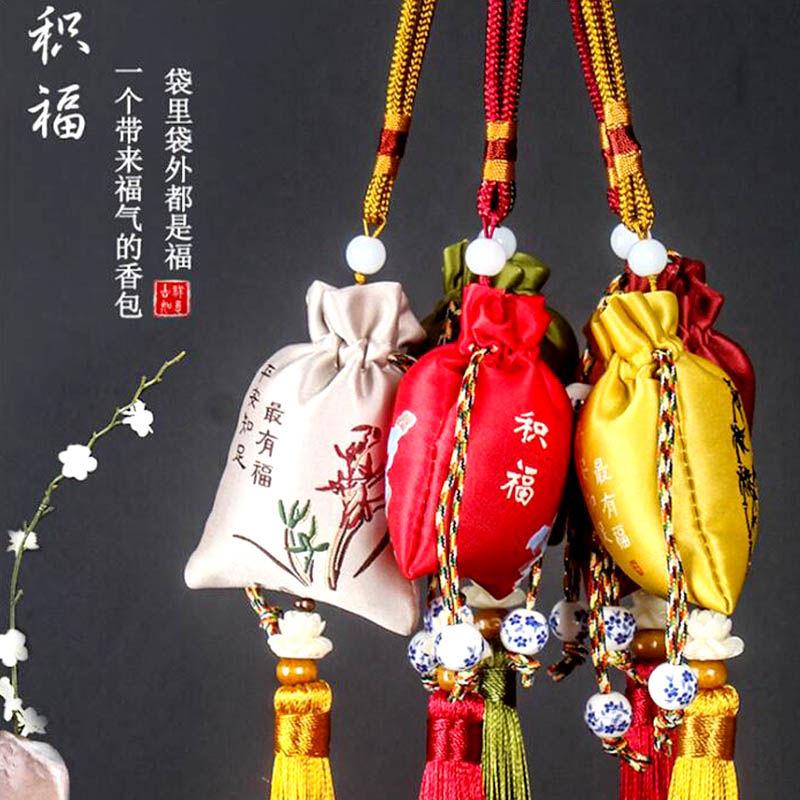 香包古风中国风车内小香包荷包胎毛袋随身香袋福袋
