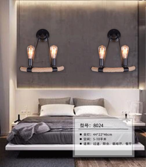 直销走廊麻绳壁灯 工业风走廊麻绳壁灯 壁灯 吊灯 水晶吸顶灯 吸顶灯