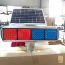 兰州太阳能爆闪灯 兰州四灯双面频闪灯供应商 警示灯LED路障灯信号灯批发