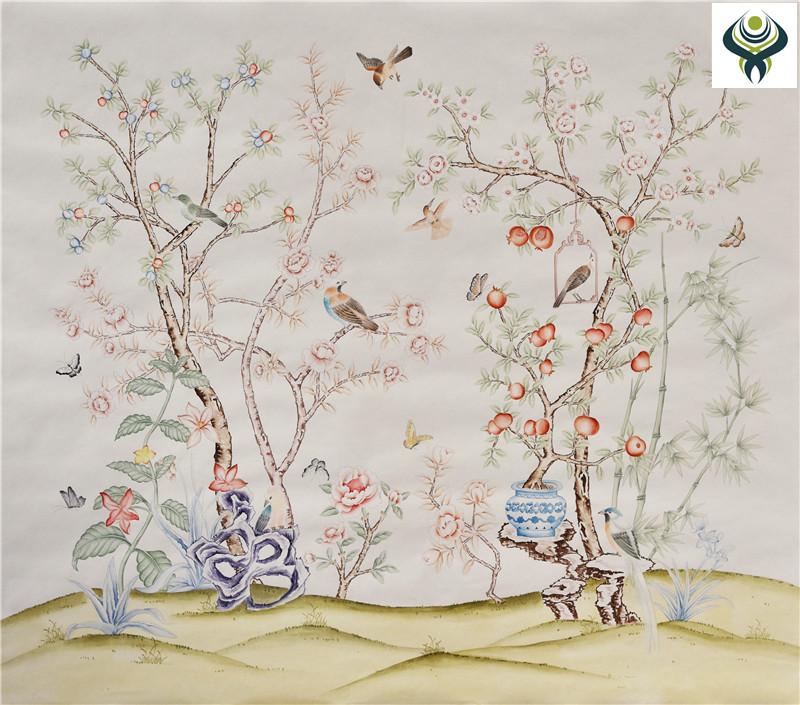 【丝绸手绘墙纸】 优质丝绸手绘墙纸厂家 【品牌/图片/价格】