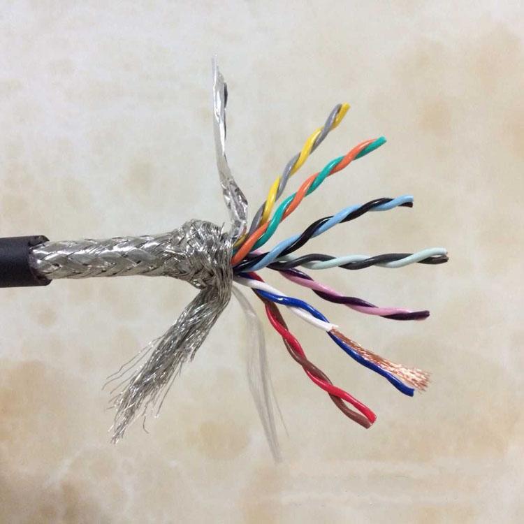 14芯拖链电缆 14芯0.2平方高柔性双绞屏蔽拖链电缆线TRVSP7×2×0.2防油耐弯曲1000万次