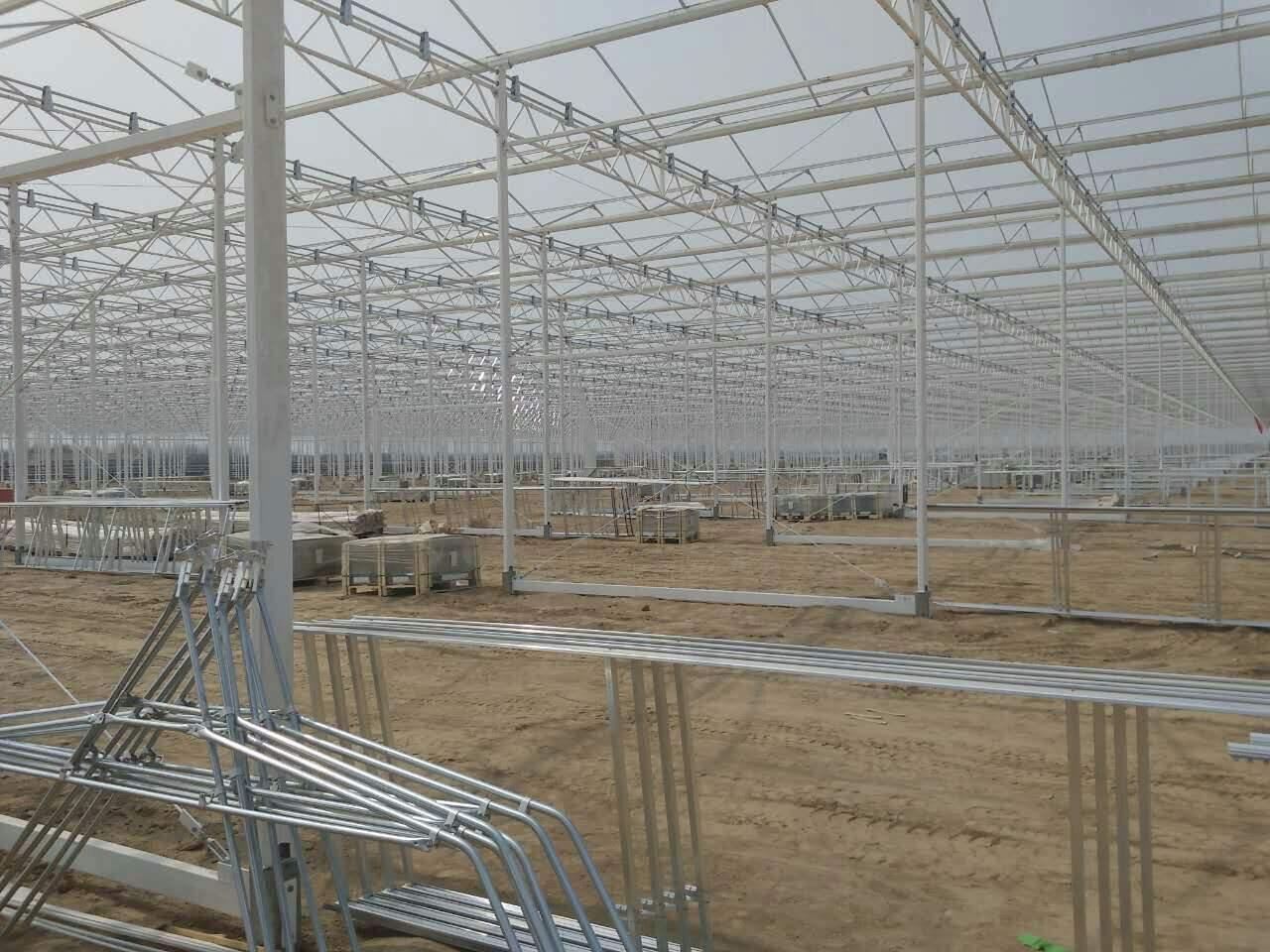 玻璃温室骨架 山东玻璃温室骨架厂 玻璃温室骨架一平方多少钱 潍坊建达温室材料公司