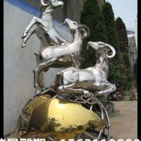 不锈钢羊雕塑