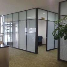 沈阳玻璃屏风隔断墙办公室高隔断铝合金百叶窗成品双层钢化玻璃间图片