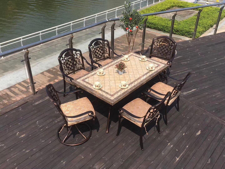 铸铁户外桌椅著名品牌 铸铁与铸铝桌椅的区别 户外铸铁桌椅