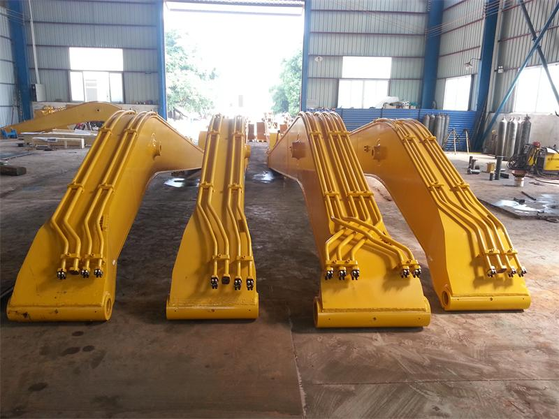改装钩机加长臂 、加长臂厂家、专业生产15米18米至32米加长臂厂家